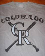 VINTAGE STYLE COLORADO ROCKIES MLB BASEBALL T-Shirt SMALL NEW