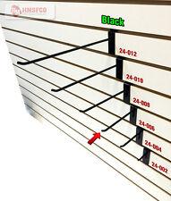 """6"""" Slatwall Metal Hooks (24-006BL) - 100 Piece - Black (NEW)"""