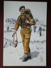 POSTCARD MEDICAL ORDERLEY ROYAL ARMY MEDICAL CORPS 45 ROYAL COMMANDO - 1944 ALIX