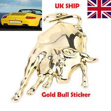 3D Chrome Metal Bull Car Sticker Cattle Car Badge Lamborghini Emblem Decal Badge