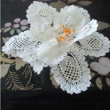 Beautiful Old Lace Wired Flower For Hair, Wrist. Wedding