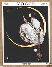 Vogue Vanity Woman On the Moon Vintage Magazine Card