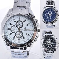 Orologio da Polso al Quarzo Cinturino In acciaio inox Orologi Uomo Watch DL0
