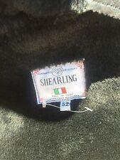 MENS  SHEARLING SHEEPSKIN LEATHER LAPS ITALY XL COAT JACKET BLK