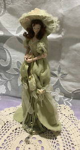 Popular Creations Victorian Tassel Doll Figurine Ornament with Porcelain Face