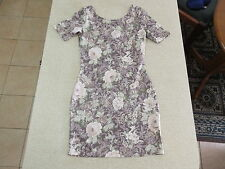 Women's FOREVER NEW Size 6 AU Bodycon Dress Purple Green ExCon Floral Mini Girls