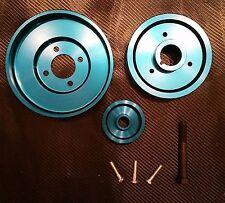 2997 Underdrive Pulley Kit 1996-2001 GT & Cobra Mustang Billet Aluminum Blue