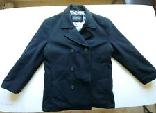 GUESS Men's Wool Peacoat Coat Dress Jacket Black XL long sleeve