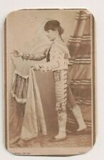 Vintage CDV Spanish Bullfighter Seville Spain 1869 Cuna Photo Seville
