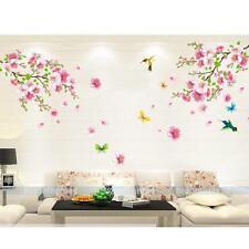 Sticker Mural Oiseau Papillon Fleurs Muraux Chambre Enfants