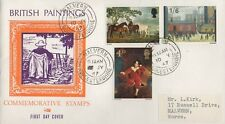 BRITISH PAINTINGS 1967 FIRST DAY COVER FDC - MALVERN WORCESTERSHIRE POSTMARK