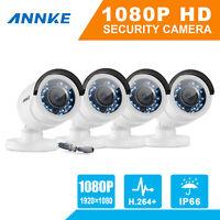 ANNKE 4Pcs 1080P Metal Bullet Security Camera 2MP Video CCTV for TVI DVR System