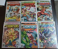 - - > The Champions 4, 6, 7, 8, 9, 15 . Lot of 6 books . Black Widow
