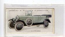 (Jd6031) LAMBERT & BUTLER,MOTOR CARS,2ND SERIES,CITROEN,1923,#28