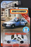 2019 Matchbox Moving Parts FWD34 '06 Ford Crown Victoria WHITE / NYPD / MOC