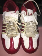 Adidas Performance Brute Force 2 Fly Mid Lacrosse Cleats, White/Red Sz 9.5