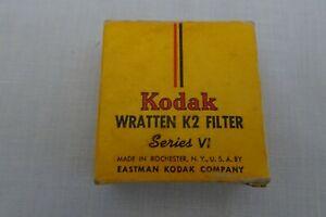 Vintage Kodak WRATTEN K2 FILTER No 8 Series VI Yellow Original Box Case