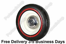 Vintage style 14'' Black Red wall port a walls tyre insert Set of 4