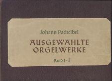 Noten: Johann Pachelbel: Ausgewählte Orgelwerke I-III ? alte Bärenreiter-Ausgabe