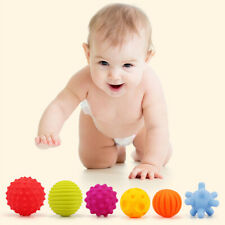 6Pcs Sensory Touch Multiple Textured Baby Ball with BB Sound Bath Education Toys
