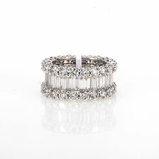 AMAZING SOLID 18K WHITE GOLD & 9 CARATS SPARKLING DIAMONDS ETERNITY BAND RING