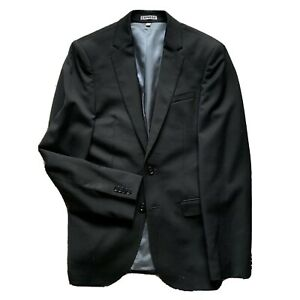 Express Photographer Blazer Fitted Wool Blend Solid Black 36R