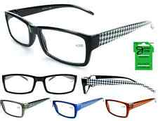 Wholesale Lot of 12 GEORGIO CAPONI  HOUNDSTOOTH TEMPLE READER Reading Glasses