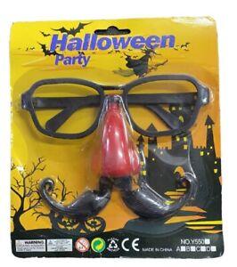 Moustache Glasses Nose Set Halloween Total Disguise Prop Fancy Dress Accessories