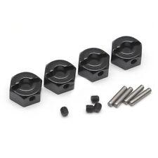 Boom Racing 12mm Alum Wheel Hex Adaptors w/ Lock Screws Pins & Screws (4) Black