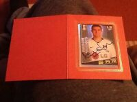 Topps Total Football Stickers Authentic Autograph Aaron Hughes