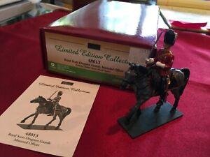 W. BRITAIN #48013 Royal Scots Dragoon Guards, Mounted Officer~ 2 Pc Set~ MIB