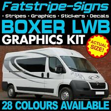 PEUGEOT BOXER L3 LWB GRAPHICS STICKERS STRIPES DECALS DAY VAN CAMPER MOTORHOME