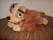 "Disney Lady And The Tramp LADY Plush Dog with collar & Tag 15"" Long"