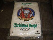"New Sparkl-Tex Glittering Old World Santa Christmas Drape 32"" By 50"" Flame Resis"