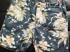 Size 38 Polo Ralph Lauren Blue Floral Straight Fit Chino Shorts