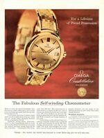 1958 Rare Original Advertising OMEGA WATCH Constellation calendar chronometer