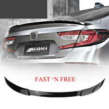 Car Rear Trunk Wing Lip Spoiler Glossy Black FOR 2018 2019 HONDA Accord V TYPE
