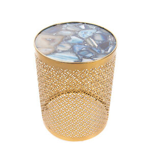 RRP €235 POLS POTTEN PRECIOUS Marble Coffee / Side Table Metallic Cut Out