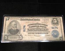 1902 $5 ANGLO & LONDON PARIS NATIONAL BANK OF SAN FRANCISCO