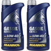 2x1 Liter Original MANNOL Motoröl Gasoil Extra 10W-40 API SL/CF Engine Oil Öl
