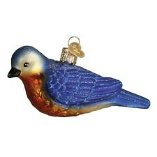 Hanging Western Bluebird Old World Christmas Glass Bird Ornament Nwt 16112