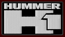 """HUMMER H1 EMBROIDERED PATCH ~4-1/8"""" x 2-3/8"""" ALPHA H2 MILITARY JEEP HUMVEE SUV"""