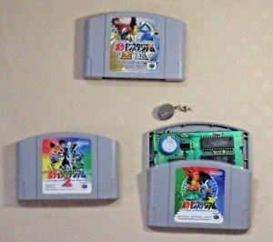 Pokemon stadium 1  2 Gold silver Crystal Nintendo 64 N64 tested 3 game Japan JP