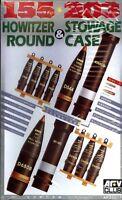 AFV Club 1/35 AF35017 155mm & 203mm Howitzer Round & Stowage Case