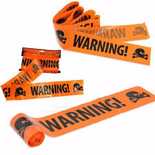 1x Plastic Halloween Party Warning Tape Signs Decoration Window Prop Decoration