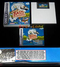 MONSTER BASS FISHING Game Boy Advance GBA Versione Italiana ••••• COMPLETO