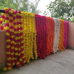 Wholesale Lot Artificial Marigold Flower All Color decor Garlands Indian Event