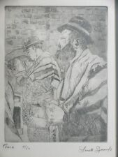 ANETTE SYMONDS ETCHING PEACE ORIGINAL PRINTS 5/50 JEWISH PRAYING