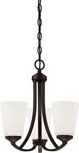 MINKA-LAVERY 4963-284 Overland Park 3 Light Mini Chandelier in Vintage Bronze