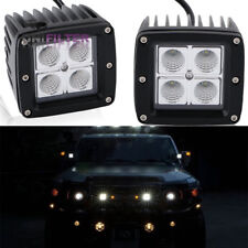 40W Flood LED Pods Cubic Fog Lights Driving For 2007-up Toyota FJ Cruiser Pair